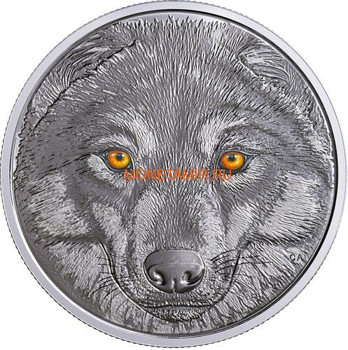 Канада 15 долларов 2017 Волк (Canada 15$ 2017 Glow-In-The-Dark Coin Wolf).Арт.60 (фото)