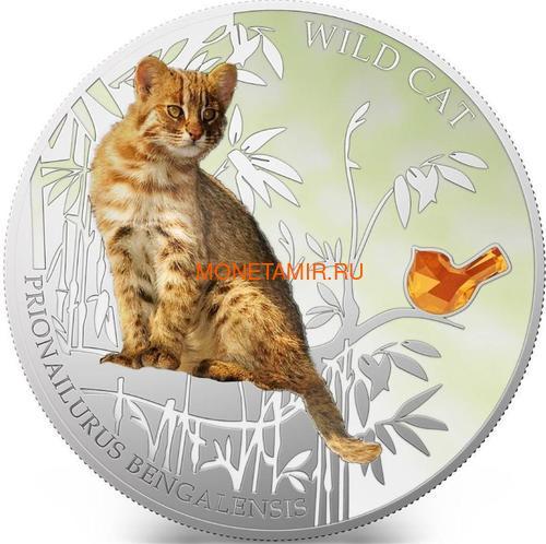 Фиджи 2 доллара 2013 Бенгальская кошка - Дикая кошка серия Собаки и Кошки (Fiji 2$ 2013 Wild Cat Prionailurus Bengalesis Dogs and Cats).Арт.000405649006/60 (фото)