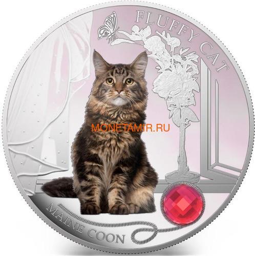 Фиджи 2 доллара 2013 Мейн-кун - Пушистая кошка серия Собаки и Кошки (Fiji 2$ 2013 Fluffy Cat Maine Coon Dogs and Cats).Арт.000405649000/60