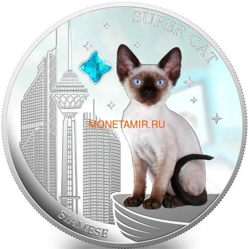 Фиджи 2 доллара 2013 Сиамская - Супер кошка серия Собаки и Кошки (Fiji 2$ 2013 Super Cat Siamese Dogs and Cats).Арт.000405649008/60 (фото)