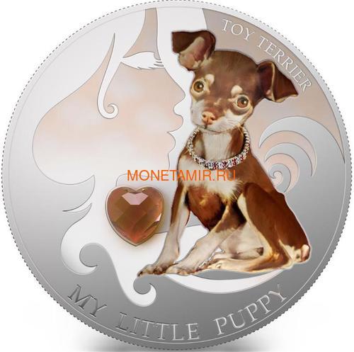 Фиджи 2 доллара 2013 Той терьер – Мой маленький щенок серия Собаки и Кошки (Fiji 2$ 2013 Dog My little Puppy Toy Terrier Dogs and Cats).Арт.000405648988/60