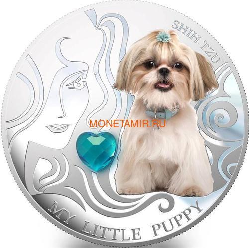 Фиджи 2 доллара 2013 Ши-Тцу – Мой маленький щенок серия Собаки и Кошки (Fiji 2$ 2013 Dog My little Puppy Shi Tzu Dogs and Cats).Арт.000405648990/60 (фото)