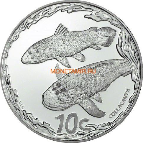 Южная Африка 10 центов 2013 Рыба Латимерия серия Охрана морских территорий (South Africa 10c 2013 Marine Protected Areas Coelacanth).Арт.000321544022/60 (фото)