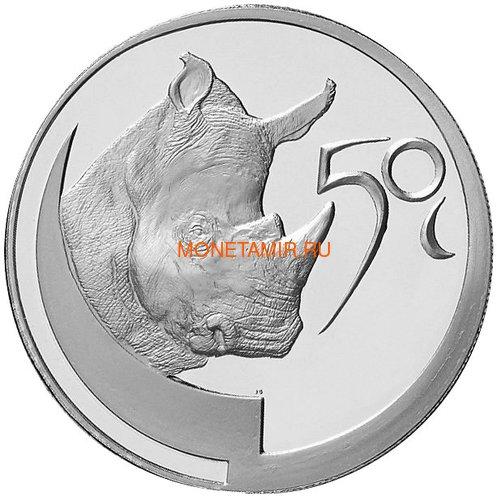Южная Африка 50 центов 2003 Носорог – Дикая природа (South Africa 50c 2003 Wildlife series the Rhino Survivor of Africa).Арт.60 (фото)