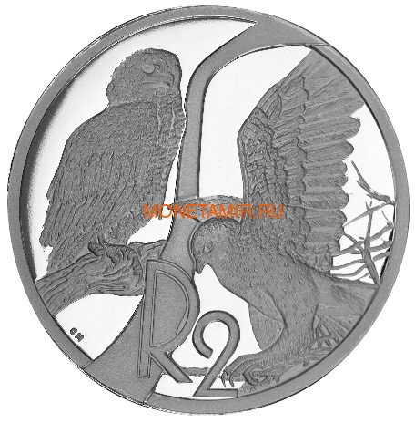 Южная Африка 2 ранда 2003 Орлы – Хищные птицы (South Africa 2R 2003 Birds of Prey Series Eagles).Арт.60