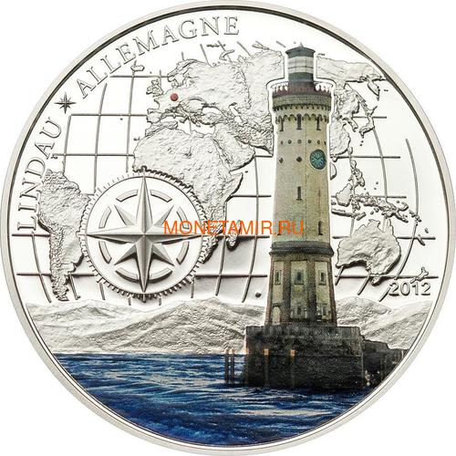 Бенин 1000 франков 2012 Маяк Линдау (Benin 1000 Francs 2012 Lindau lighthouse).Арт.60 (фото)