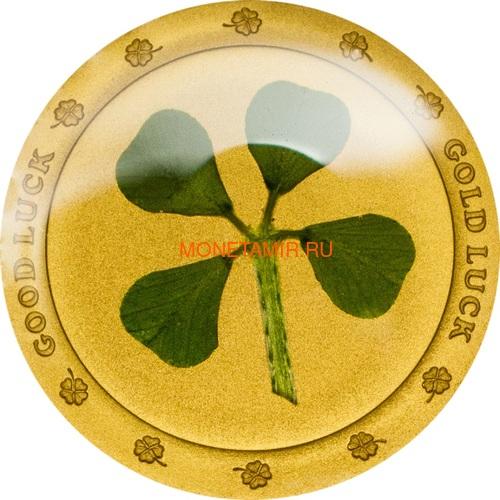 Палау 1 доллар 2014 Клевер На удачу (Palau 1$ 2014 Good Luck 4-leaf clover).Арт.60 (фото)