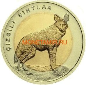 Турция 1 лира 2014 Волк Биметалл (Turkey 1L 2014 Wolf BM).Арт.0000220050118/60 (фото)