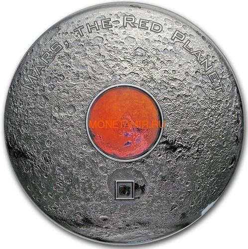 Острова Кука 20 долларов 2017 Метеорит Марс Красная Планета (2017 Cook Islands 3 oz Silver Meteorites Mars Red Planet).Арт.60 (фото)