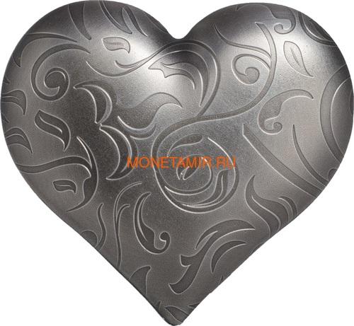 Палау 5 долларов 2018 Серебряное Сердце (Palau 5$ 2018 Silver Heart).Арт.60 (фото)