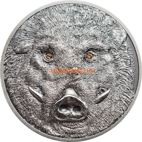 Монголия 500 Тугриков 2018 Кабан Охрана дикой природы (Mongolia 500T 2018 Wild Boar Sus scrofa Wildlife Protection).Арт.60