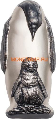 Острова Кука 20 долларов 2018 Императорский Пингвин Фигурка (Cook Isl. 20$ 2018 Emperor Penguin 3D Silver Coin).Арт.60 (фото)