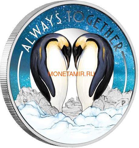 Тувалу 50 центов 2018 Пингвины Всегда вместе (Tuvalu 0,5$ 2018 Always Together Penguin).Арт.60 (фото)
