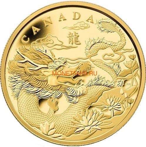 Канада 50 долларов 2012 Год Дракона Лунный Календарь Унция Золота Пруф (Canada 50C$ 2012 Year of the Dragon 1oz Gold Proof).Арт.009151355576/K1,86 (фото)