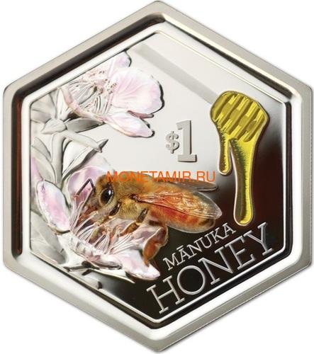 Новая Зеландия 1 доллар 2018 Пчела Манука Мед (New Zealand 1$ 2018 Manuka Honey Bee).Арт.60 (фото)