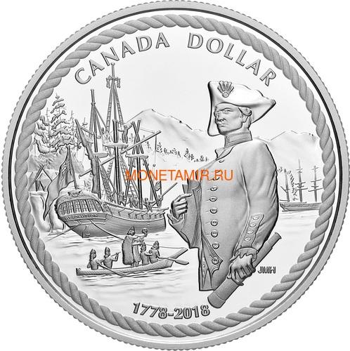 Канада 1 доллар 2018 Капитан Кук Корабль (Canada 1C$ 2018 Ship 240th Anniversary of Captain Cook at Nootka Sound).Арт.000252655487/60