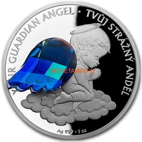 Ниуэ 2 доллара 2018 Ангел Хранитель Кристаллы на монетах (Niue 2$ 2018 Your Guardian Angel Czech Crystal Coins).Арт.000457855437/60 (фото)