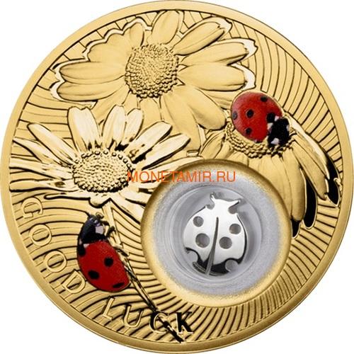 Ниуэ 2 доллара 2013 Божья Коровка Монеты на Удачу (Niue 2$ 2013 Lucky Coin Ladybug GPL).Арт.000330349047/60 (фото)