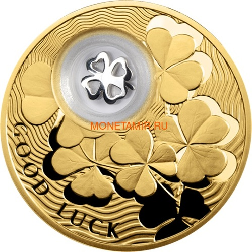 Ниуэ 2 доллара 2013 Клевер Монеты на Удачу (Niue 2$ 2013 Lucky Coin Clover GPL).Арт.000330349051/60 (фото)