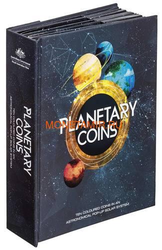 Австралия 13,88 долларов 2017 Планеты Солнечной Системы Космос Набор 10 монет (Australia 13,88$ 2017 Sollar System Space 10-coin Set).Арт.000862855467/60 (фото)