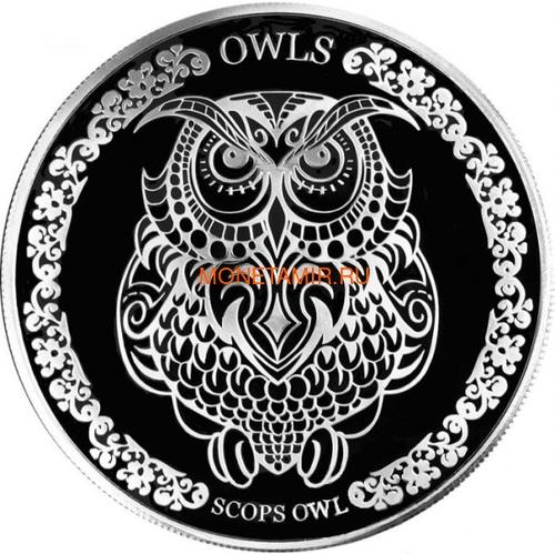 Токелау 5 долларов 2018 Сова Сплюшка (Tokelau 5$ 2018 Scops Owl).Арт.60 (фото)