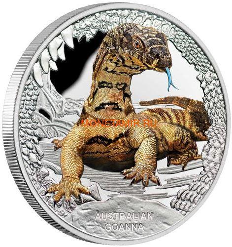 Тувалу 1 доллар 2016 Ящерица Варан Замечательные Рептилии (Tuvalu 1$ 2016 Goanna Remarkable Reptiles 1oz Silver Coin).Арт.000412652666/60 (фото)