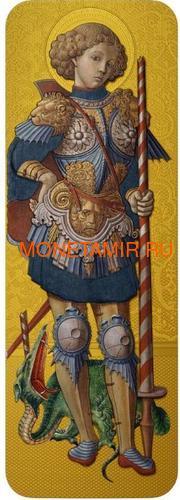 Ниуэ 5 долларов 2014 Икона Святой Георгий Карло Кривелли (Позолота).Арт.000927249014 (фото)