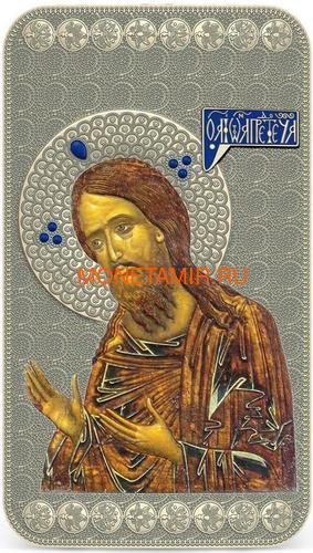 Ниуэ 2 доллара 2014 Икона Святой Иоанн Креститель серия Православные Святыни (Oxidized).Арт.000463649022 (фото)