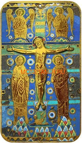Ниуэ 2 доллара 2014 Икона Распятие Иисуса Христа серия Православные Святыни (Позолота).Арт.000492649033 (фото)