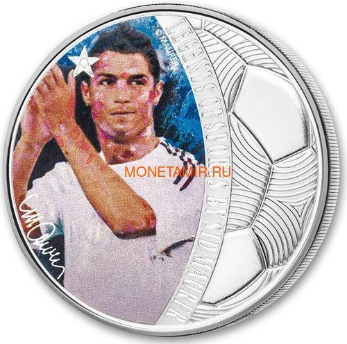 Соломоновы острова 5 долларов 2018 Криштиану Роналду Легенды Спорта (Solomon Islands 5$ 2018 Cristiano Ronaldo Legends of Sports).Арт.60 (фото)