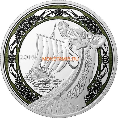 Канада 20 долларов 2018 Северная Ярость Корабли Викингов (Canada 20C$ 2018 Viking Ships Northern Fury).Арт.60 (фото)
