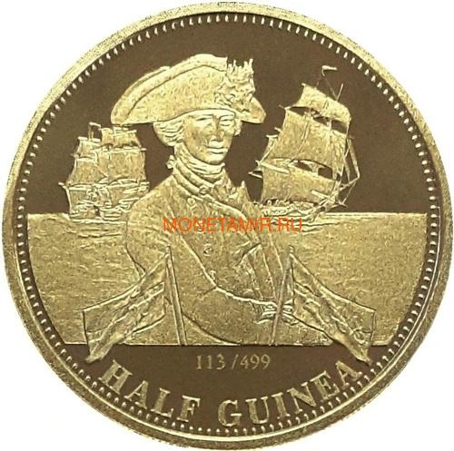 Тристан-да-Кунья 0,5 гинеи 2008 Нельсон Корабль (Tristan da Cunha half guinea 2008 Lord Nelson Ship Gold Proof).Арт.K0,275G (фото)