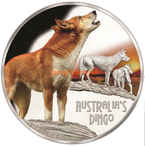 Тувалу 1 доллар 2018 Динго серия Смертельно Опасные (Tuvalu 1$ 2018 Deadly Dangerous Dingo).Арт.000403156171