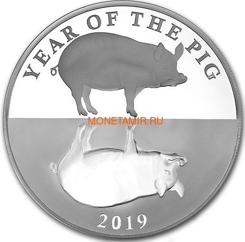Токелау 5 долларов 2019 Год Свиньи (Tokelau 5$ 2019 Year of the Pig).Арт.63
