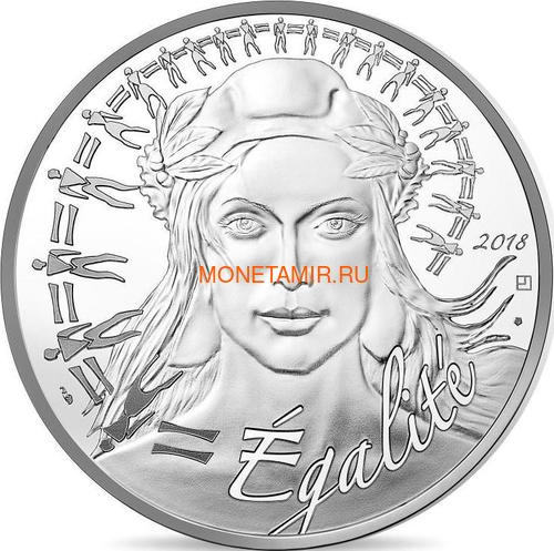 Франция 20 евро 2018 Марианна Равенство (France 20 Euro 2018 Marianne Equality Proof).Арт.000209356132/63 (фото)