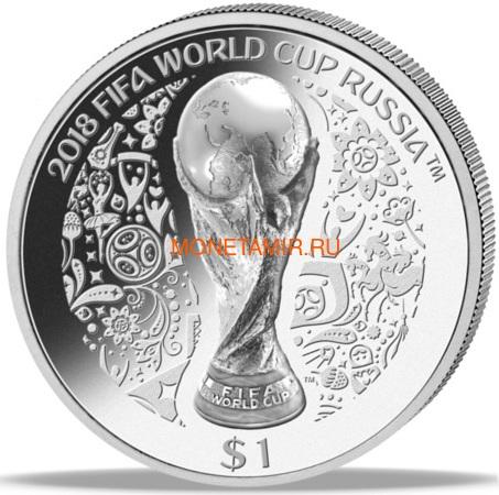 Науру 1 доллар 2018 Футбол ФИФА 2018 Чемпионат Мира в России Кубок (Nauru 1$ 2018 FIFA World Cup in Russia).Арт.000366156341/68