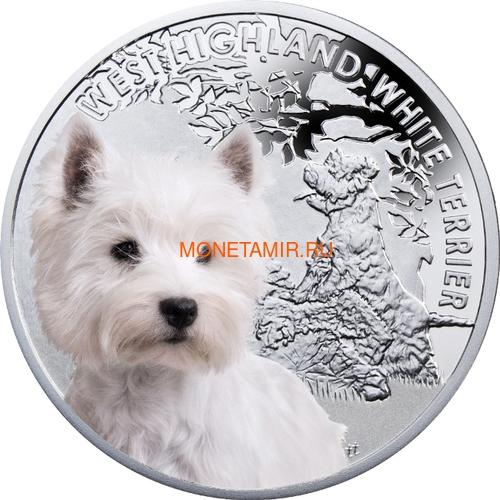 Ниуэ 1 доллар 2014 Вест Хайленд Уайт Терьер Собака Лучший Друг Человека (Niue 1$ 2014 West Highland White Terrier Man's Best Friends).Арт.63 (фото)
