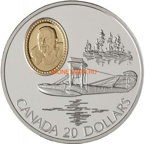 Канада 20 долларов 1994 Кертисс HS-2L Стюарт Грэхэм Авиация (Canada 20$ 1994 Aviation Series Curtis HS-2L Stuart Graham 1oz Silver Coin).Арт.68 (фото)