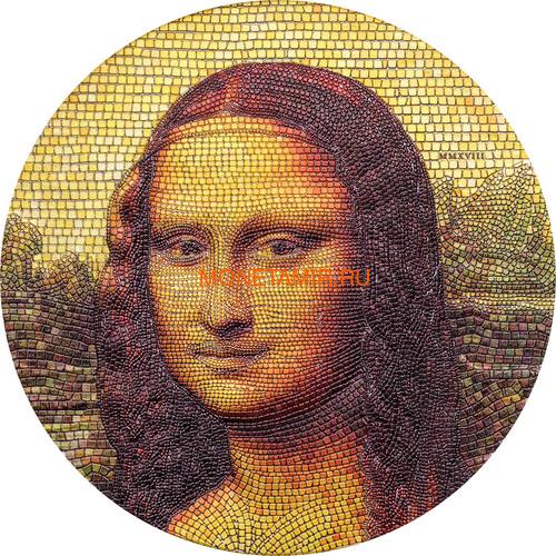 Палау 20 долларов 2018 Мона Лиза Леонардо Да Винчи серия Великое Увлечение Микромозаикой (Palau 20$ 2018 Mona Lisa Leonardo Da Vinci Great Micromosaic Passion).Арт.70 (фото)