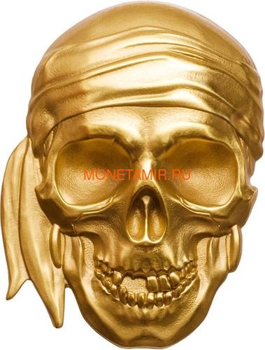 Палау 200 долларов 2018 Череп Пирата Черная Борода (Palau 200$ 2018 Pirate Skull Blackbeard 1oz Gold).Арт.69 (фото)