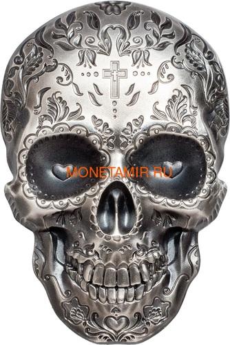 Палау 5 долларов 2018 Череп Катрины (Palau 5$ 2018 La Catrina Skull 1oz Silver).Арт.69 (фото)