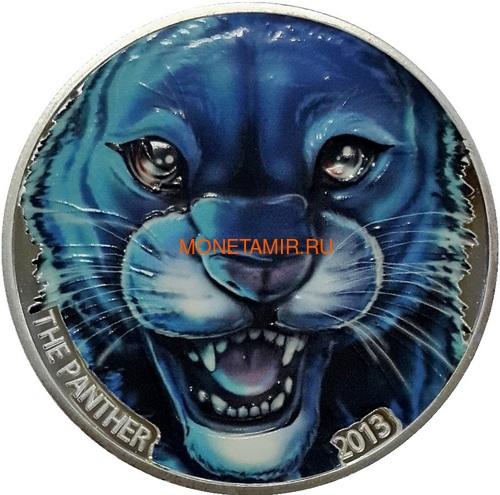 Берег Слоновой Кости Кот-д'Ивуар 1000 франков 2013 Черная Пантера (Cote D`Ivoire Ivory Coast 1000FCFA 2013 Black Panther 1oz Silver Coin Colored).Арт.000297247369 (фото)