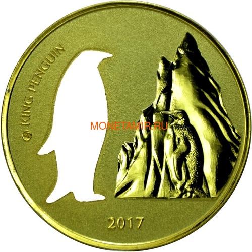 Гана 5 седи 2017 Пингвин Силуэт (Ghana 5 Cedis 2017 Penguin Silhouette 1oz Silver Coin).Арт.000419754963 (фото)