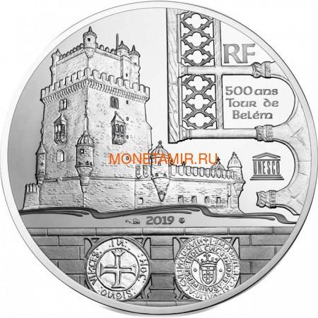 Франция 10 евро 2019 Башня Белем Васко де Гама Корабль (France 10E 2019 Tower Belem Vasco de Gama Silver Proof Coin).Арт.67 (фото)
