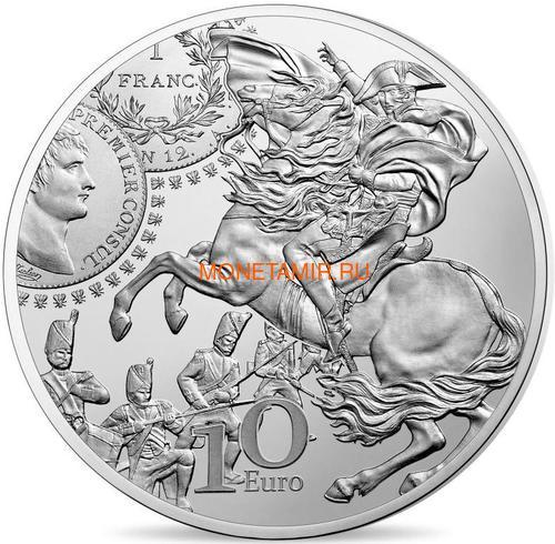 Франция 10 евро 2019 Франк Жерминаль Наполеон Сеятель Монеты на Монетах (France 10E 2019 The Germinal Franc Silver Proof Coin).Арт.67