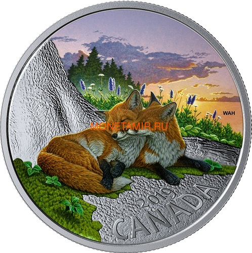 Канада 20 долларов 2019 Лиса Животные Канады (Canada 20$ 2019 Canadian Fauna The Fox Silver Coin).Арт.67 (фото)