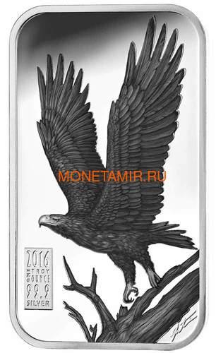 Острова Кука 1 доллар 2016 Орел Хищники Австралии (Cook Islands 1$ 2016 Eagle Australian Apex Predators Silver Coins).Арт.67 (фото)