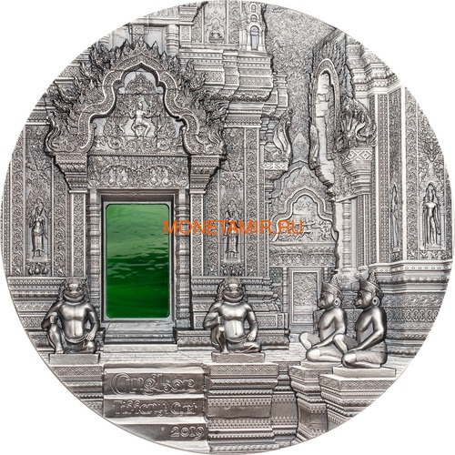 Палау 50 долларов 2019 Ангкор Кхмерская Архитектура серия Тиффани Килограмм (Palau 50$ 2019 Angkor Tiffany Art Kilo Silver Coin).Арт.67 (фото)