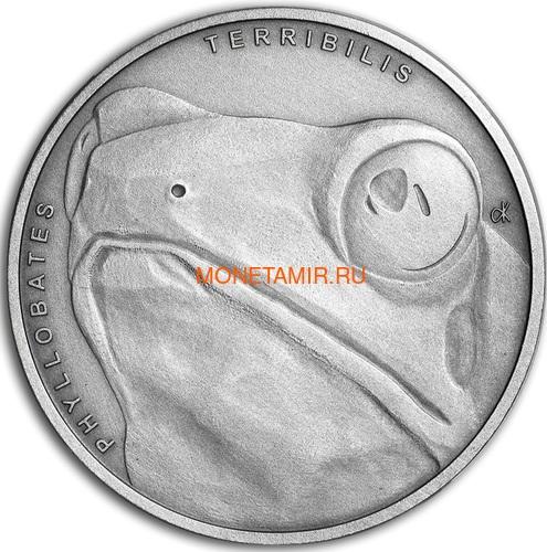 Ниуэ 1 доллар 2019 Лягушка Животные Чемпионы (Niue 1$ 2019 Frog Animal Champions 1 oz Silver Coin) Буклет.Арт.67 (фото)
