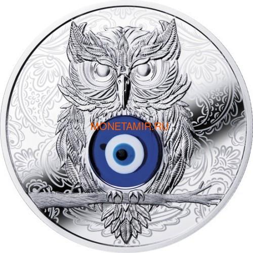 Ниуэ 1 доллар 2019 Сова Амулет (Niue 1$ 2019 Owl Amulet Silver Coin).Арт.67 (фото)